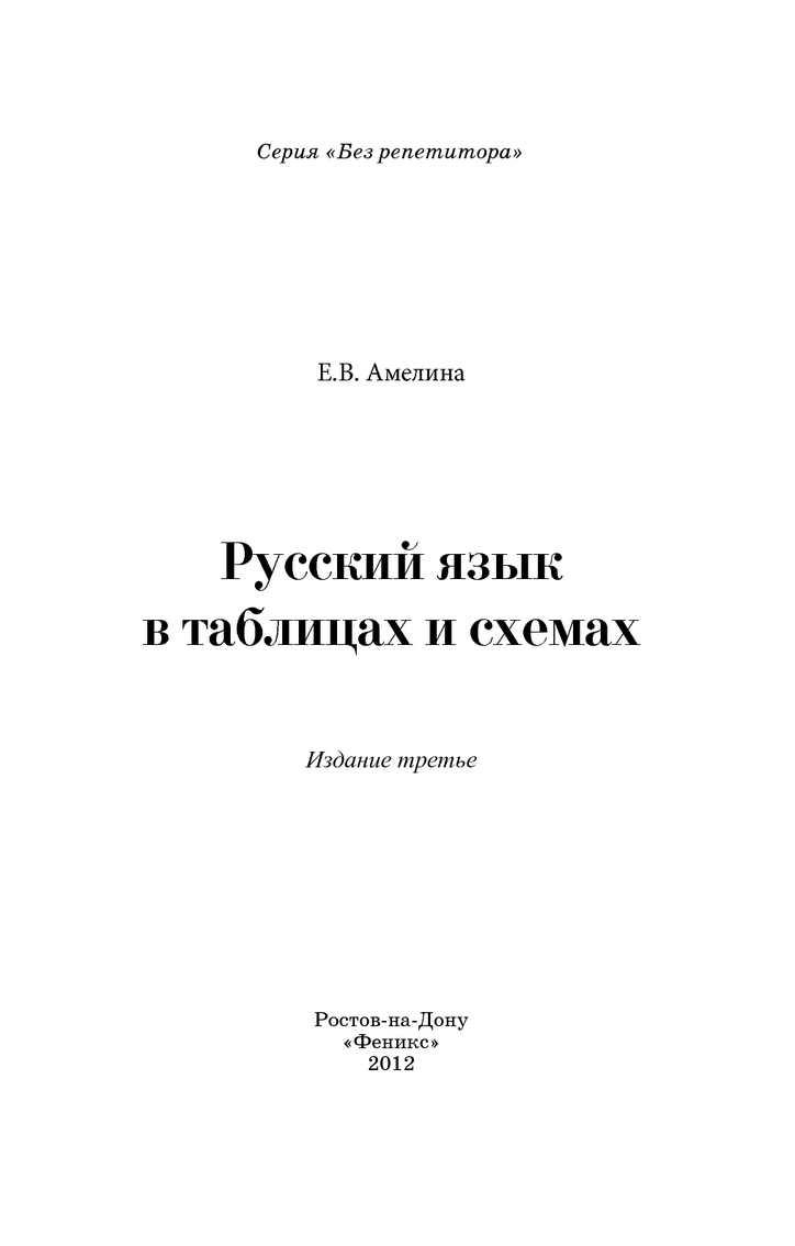 русский язык в таблицах и схемах+