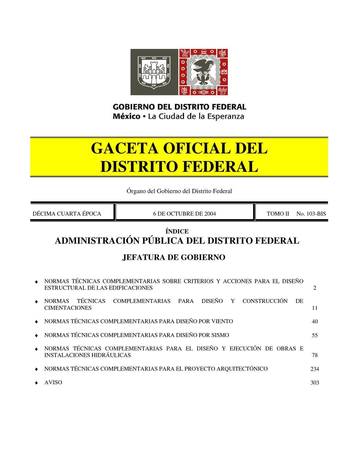 Calaméo - NORMAS TECNICAS COMPLEMENTARIAS DEL REGLAMENTO DE ...
