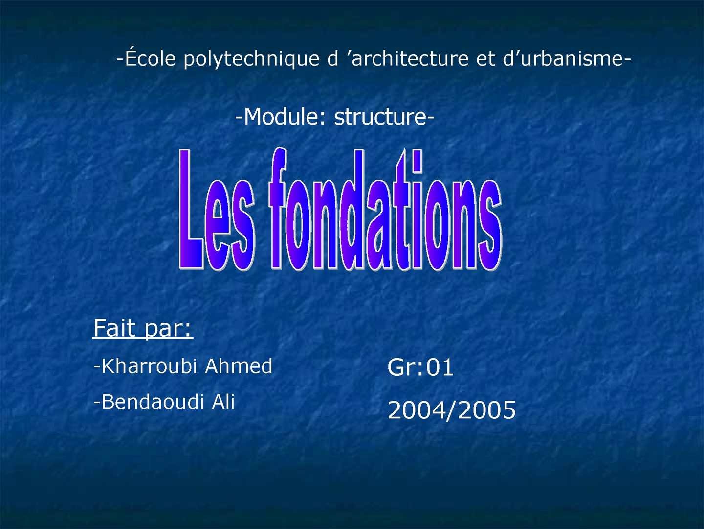 fondations.ppt