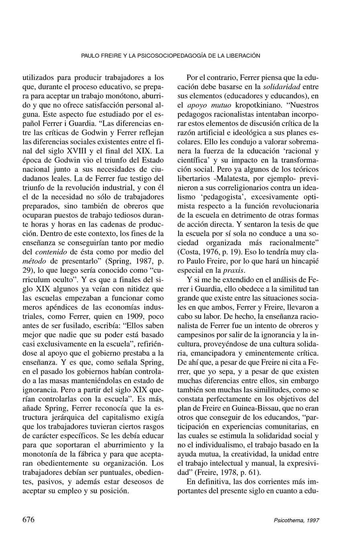 PAULO FREIRE Y LA PSICOSOCIOPEDAGOGÍA
