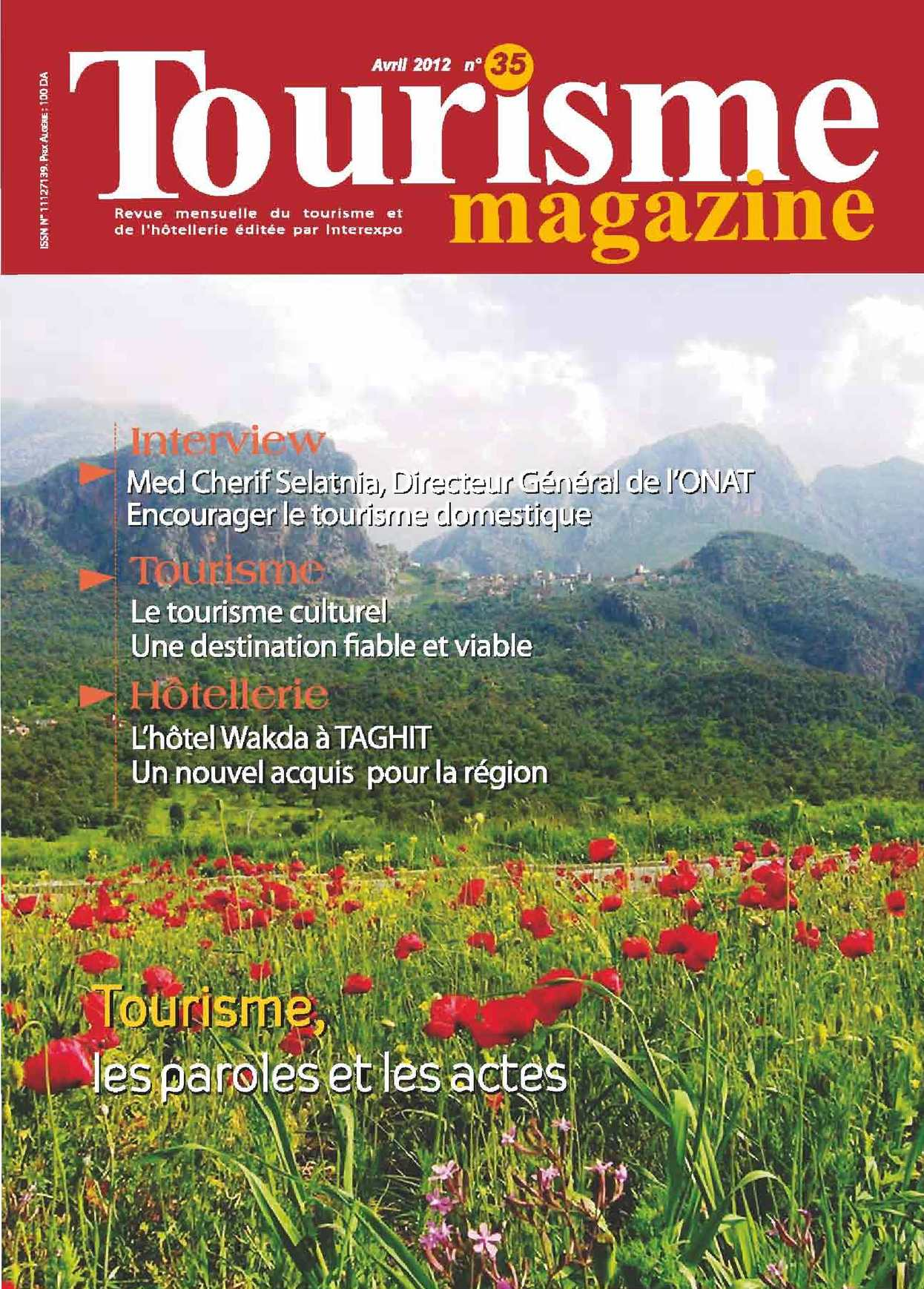Tourisme Magazine n°35 Avril 2012