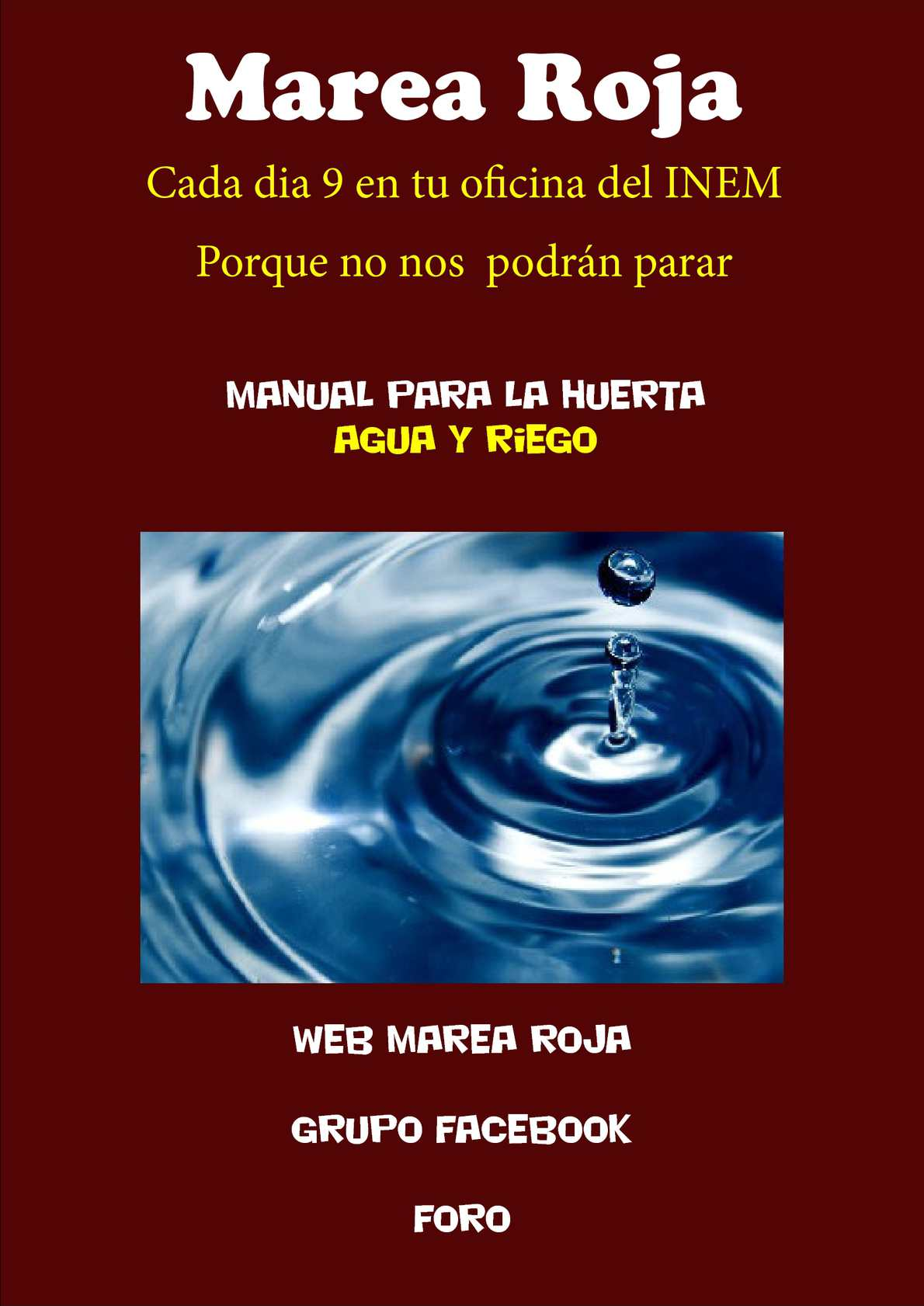 Calam o manual sobre la huerta org nica agua y riego for Oficina inem santa eugenia
