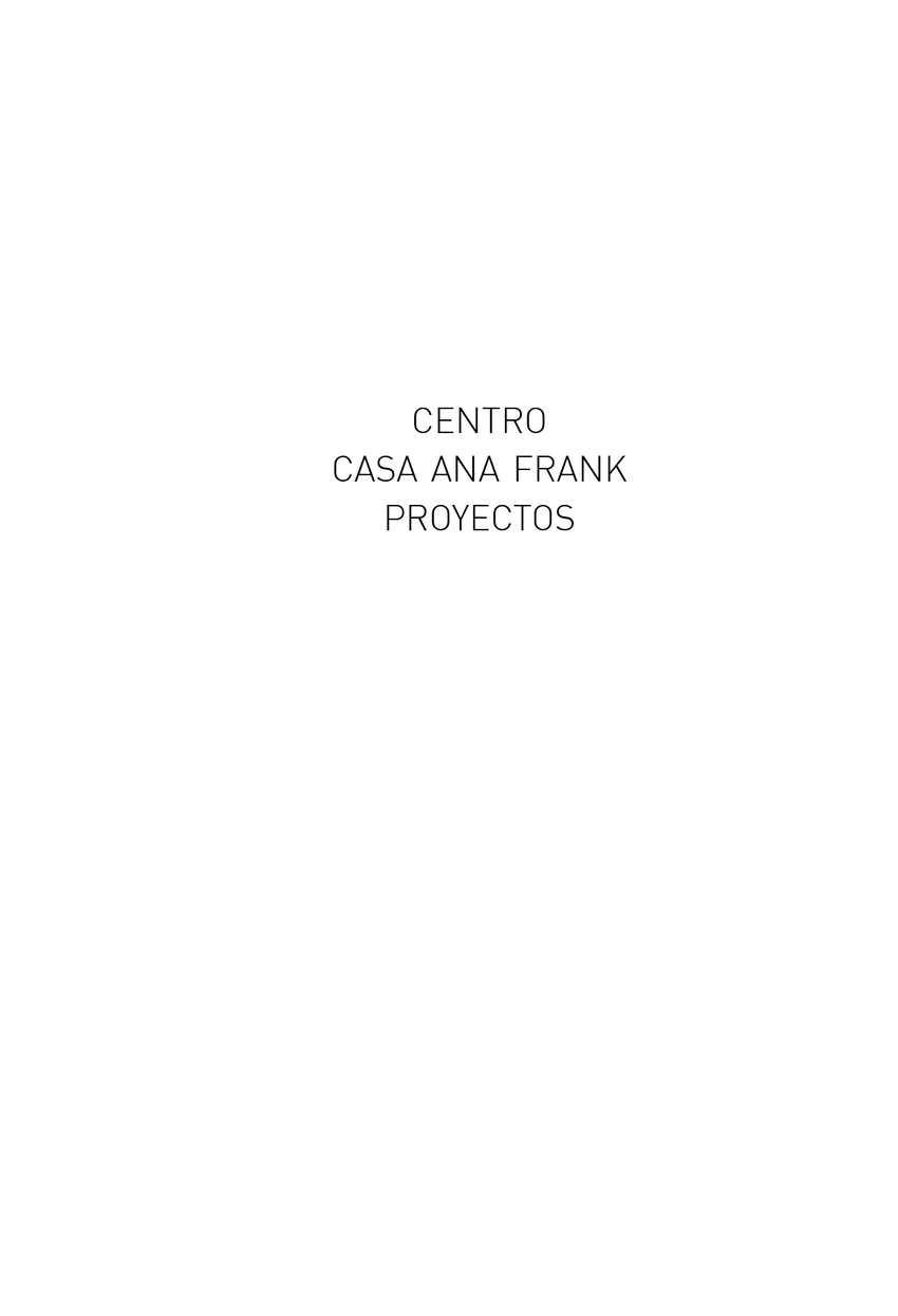 Calaméo - PROYECTOS CENTRO ANA FRANK ARGENTINA