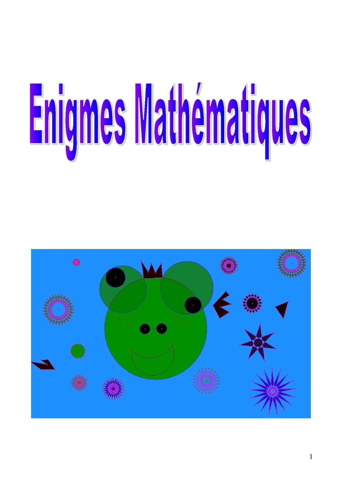 Enigmes Mathématiques