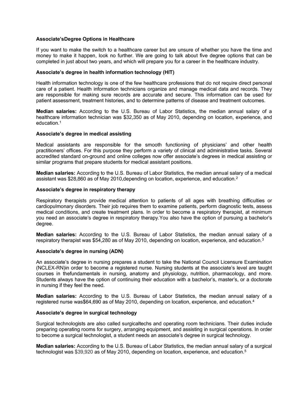 Calaméo - Associates Degree Options in Healthcare v3