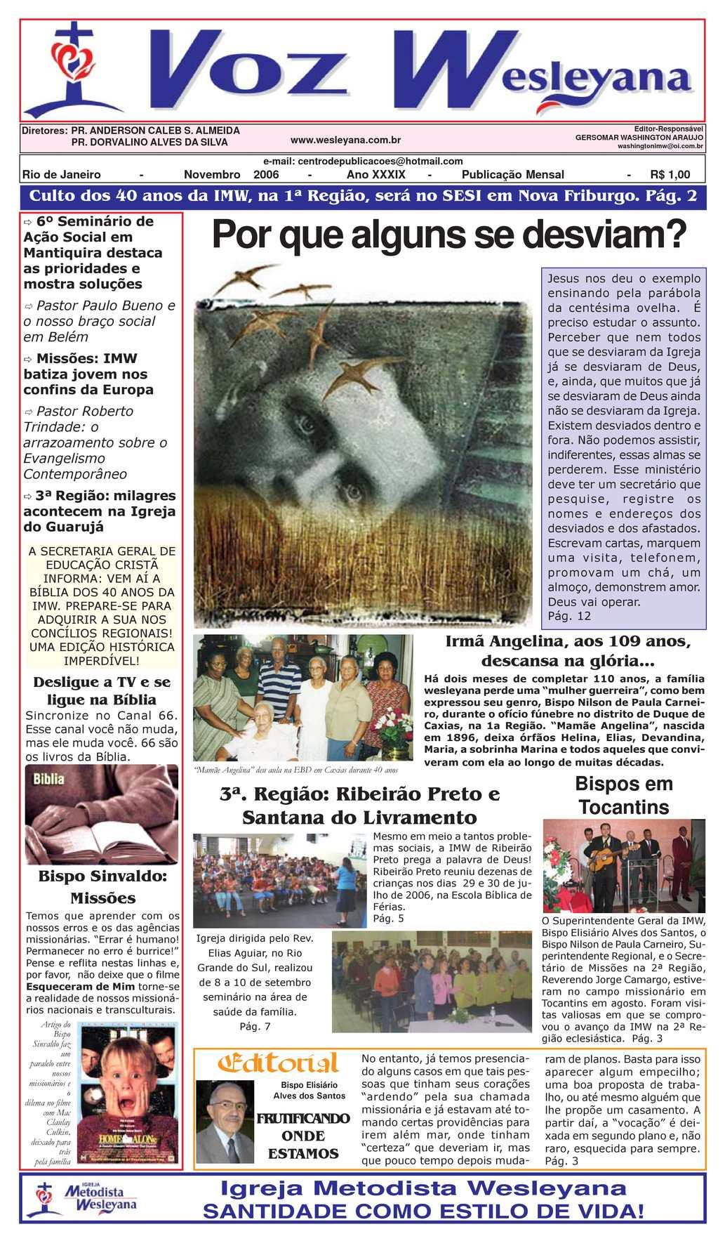 VOZ WESLEYANA NOVEMBRO DE 2006