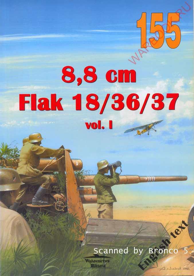 Wydawnictwo Militaria 155 8,8 cm Flak 18-36-37