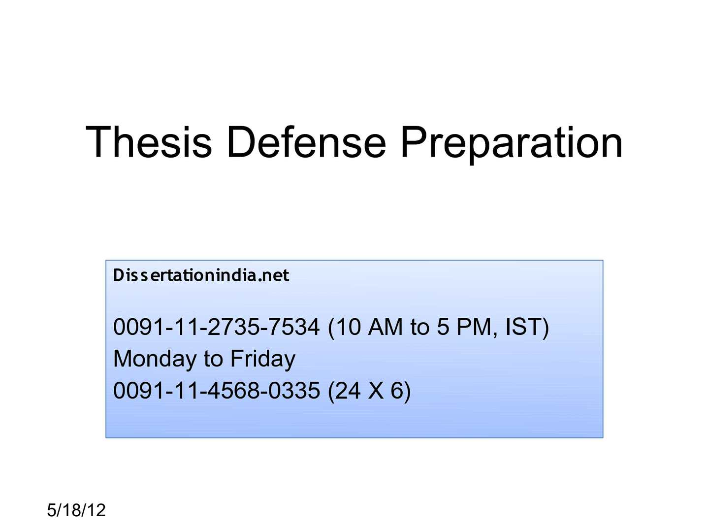 thesis defense procedure