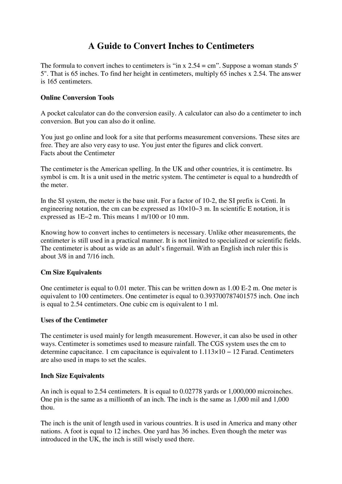 Calamo how to convert inches to centimetres buycottarizona