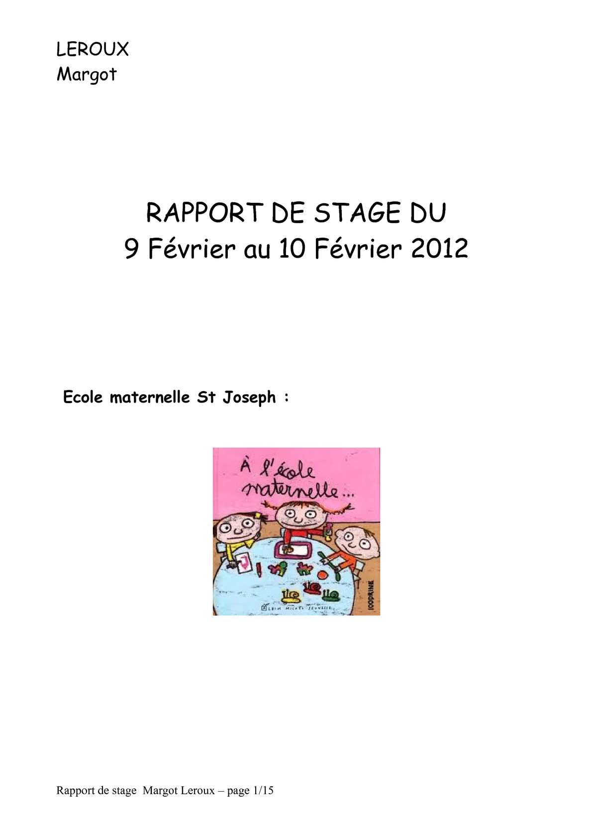 Calameo Rapport De Stage 2 Margot