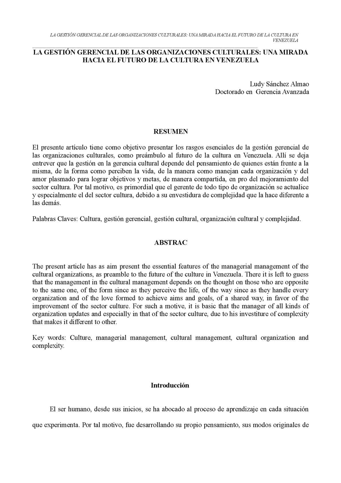 Calaméo - LA GESTIÓN GERENCIAL DE LAS ORGANIZACIONES CULTURALES: UNA ...