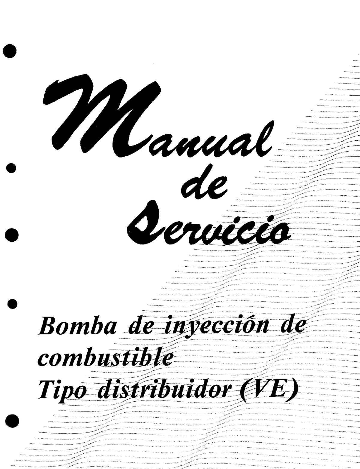 BOMBA DE INYECCIÓN VE