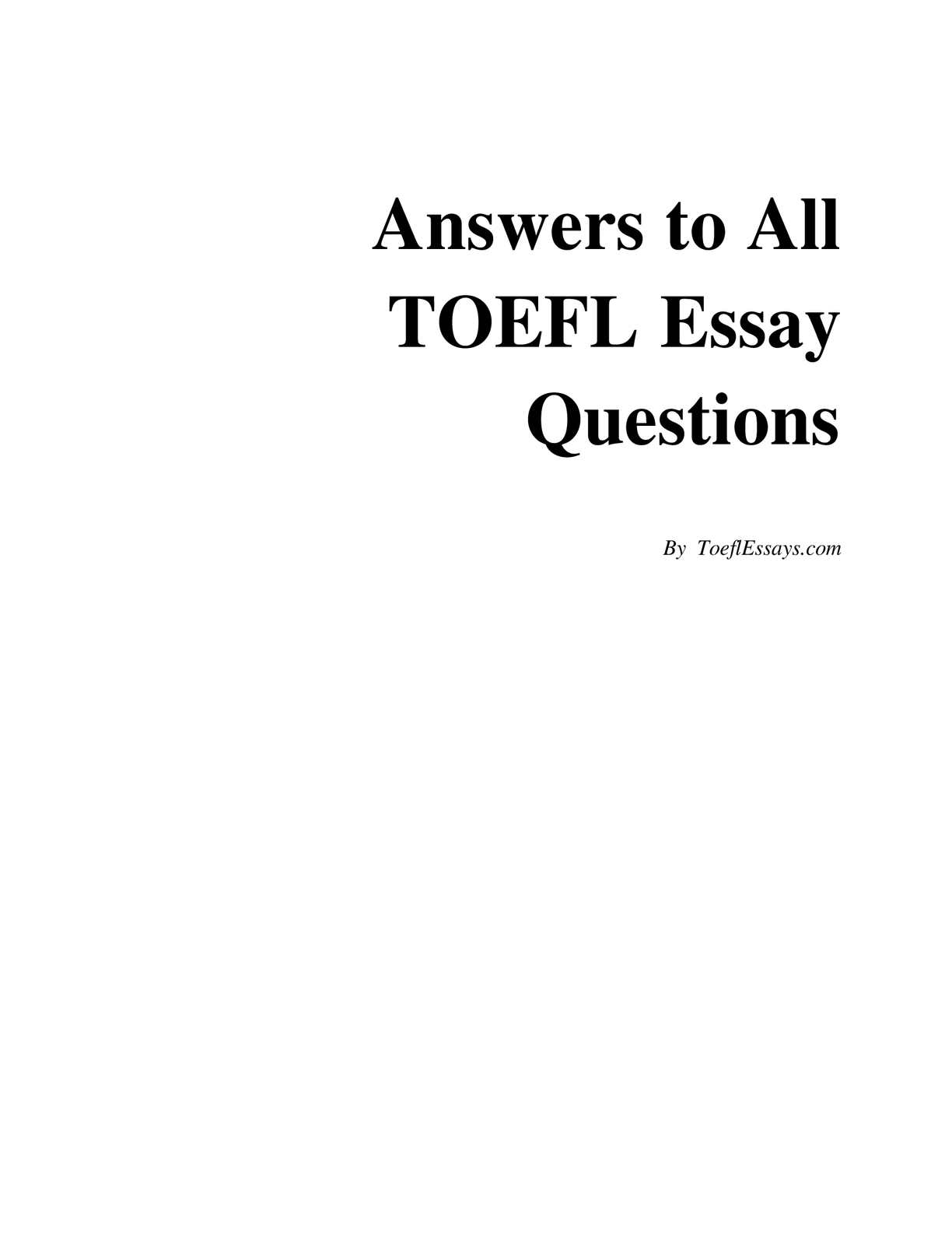 answers to all toefl essay questions.rar