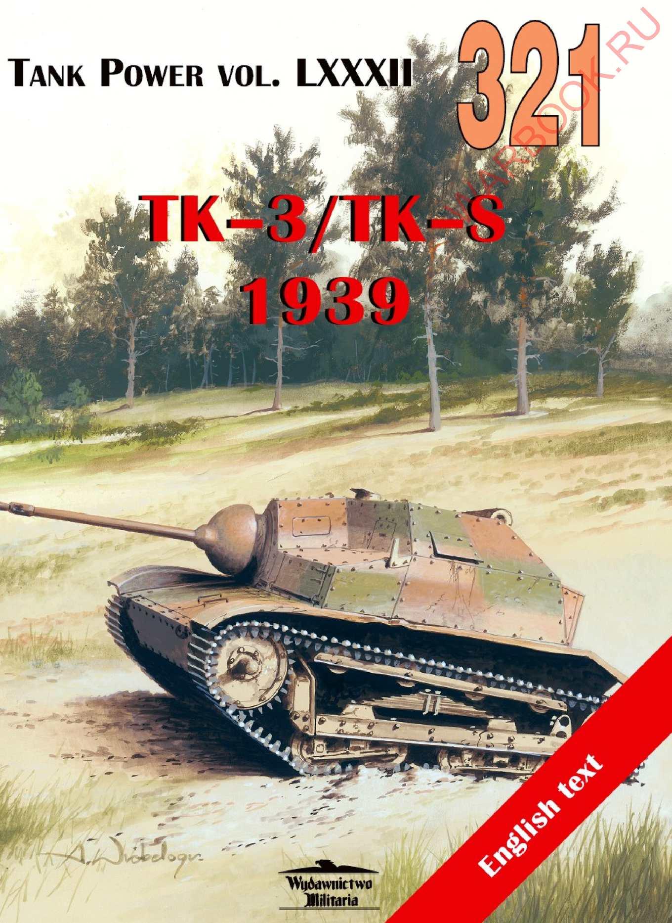 Wydawnictwo Militaria 321 Tankietki TK-3 TK-S 1939