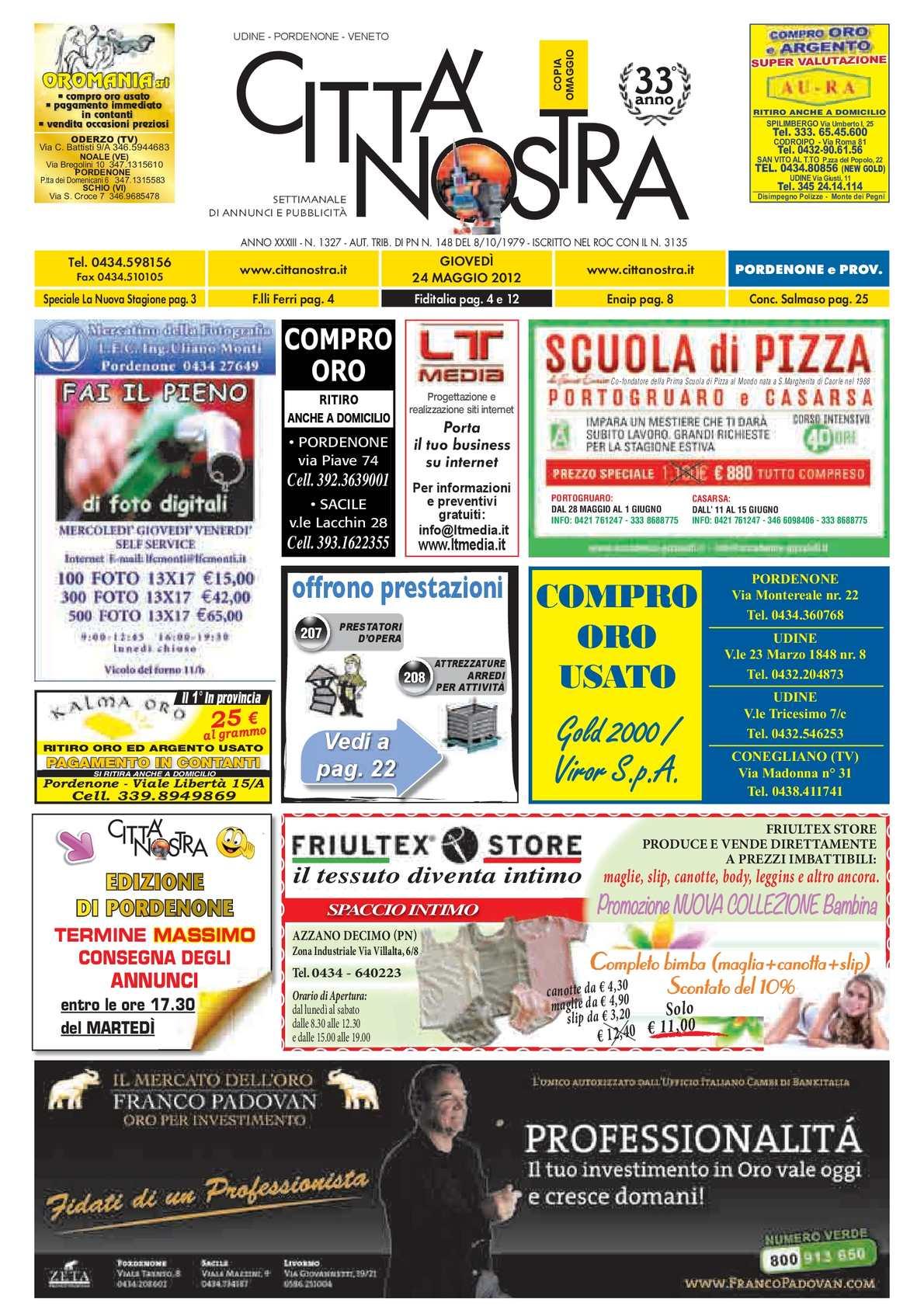 Calaméo Citt Nostra Pordenone Del 24 05 2012 N 1327