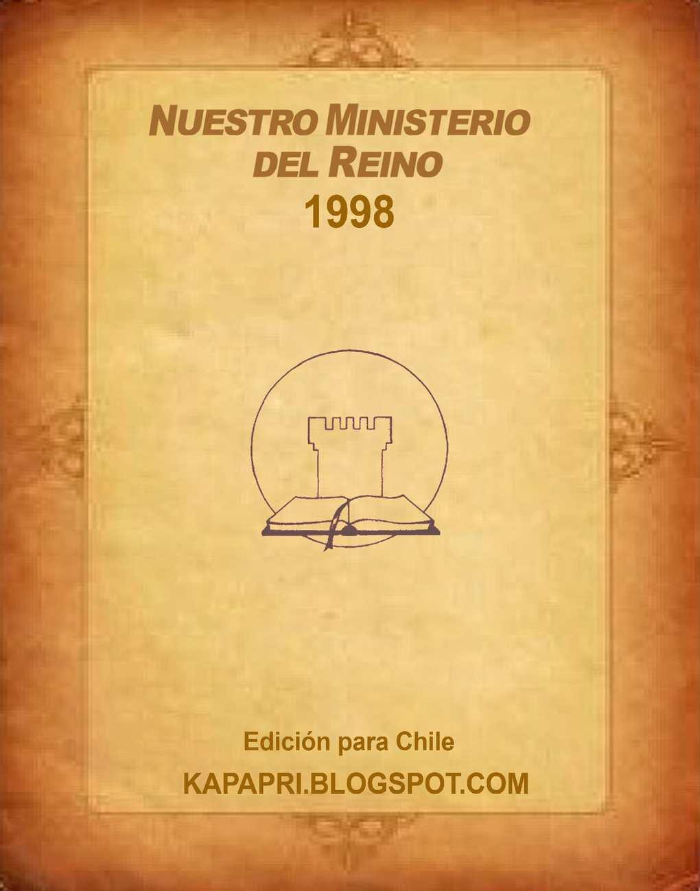 1998 Nuestro Ministerio del Reino