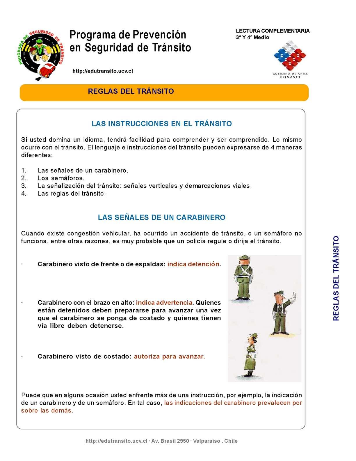 Calaméo - Reglas de Transito de Chile