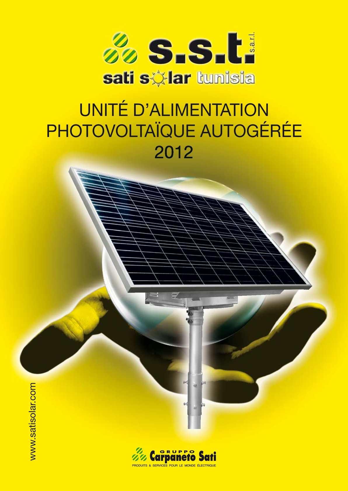 UNITÉ D'ALIMENTATION PHOTOVOLTAÏQUE AUTOGÉRÉE 2012