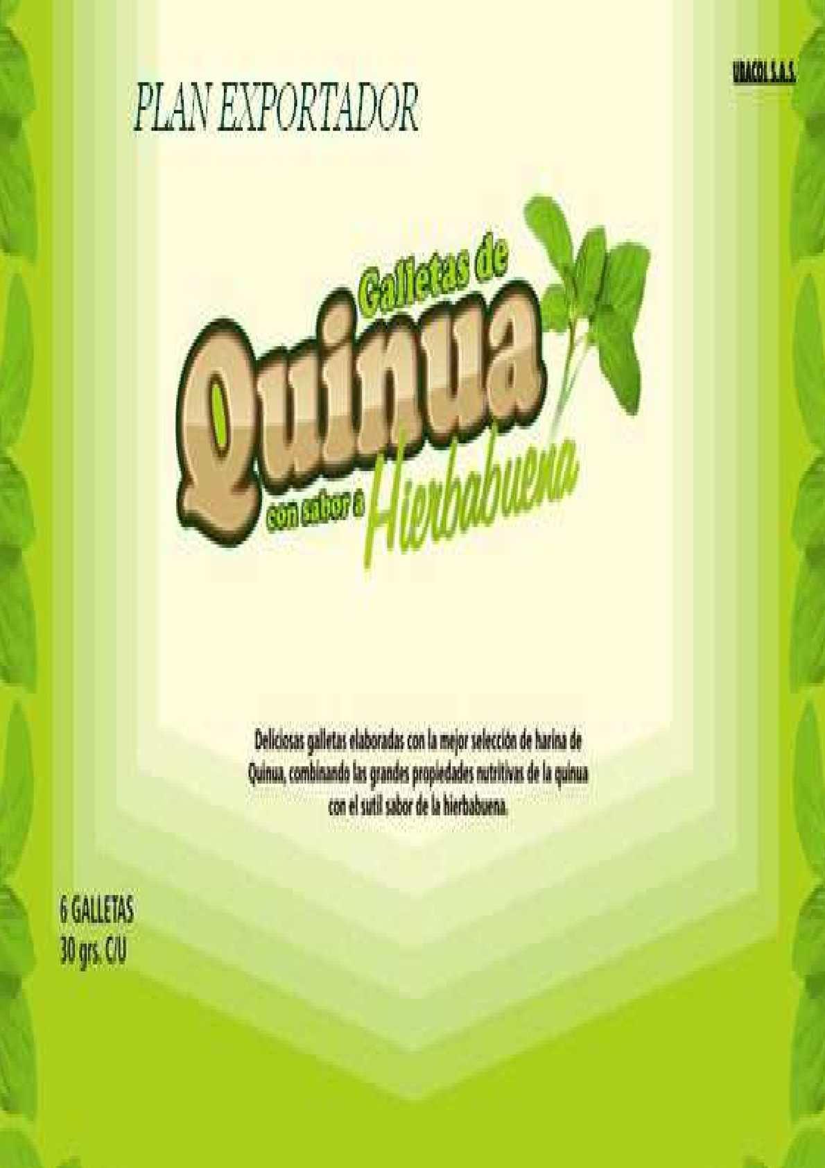 Calaméo - Plan Exportador - Galletas de Quinua
