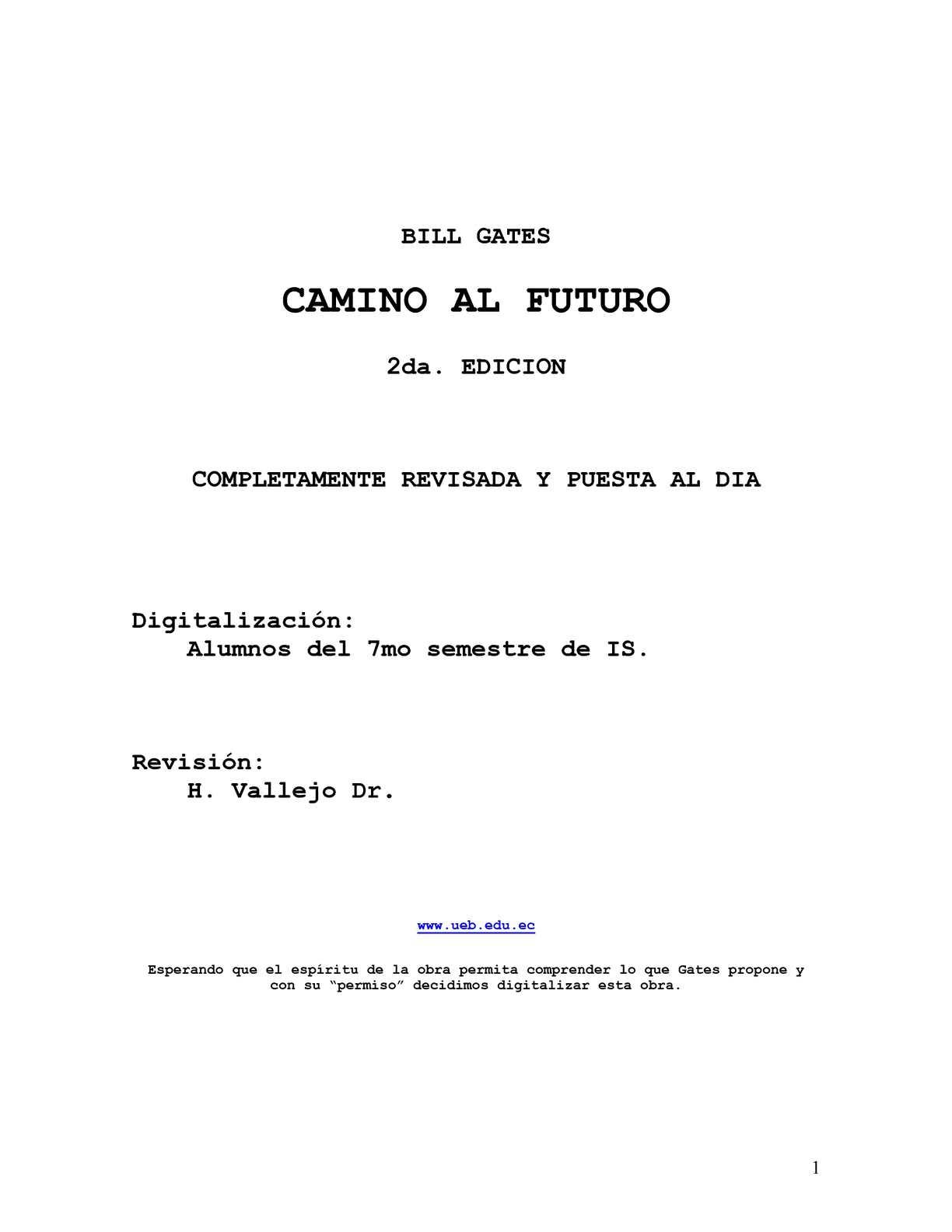 Calaméo - Camino al futuro