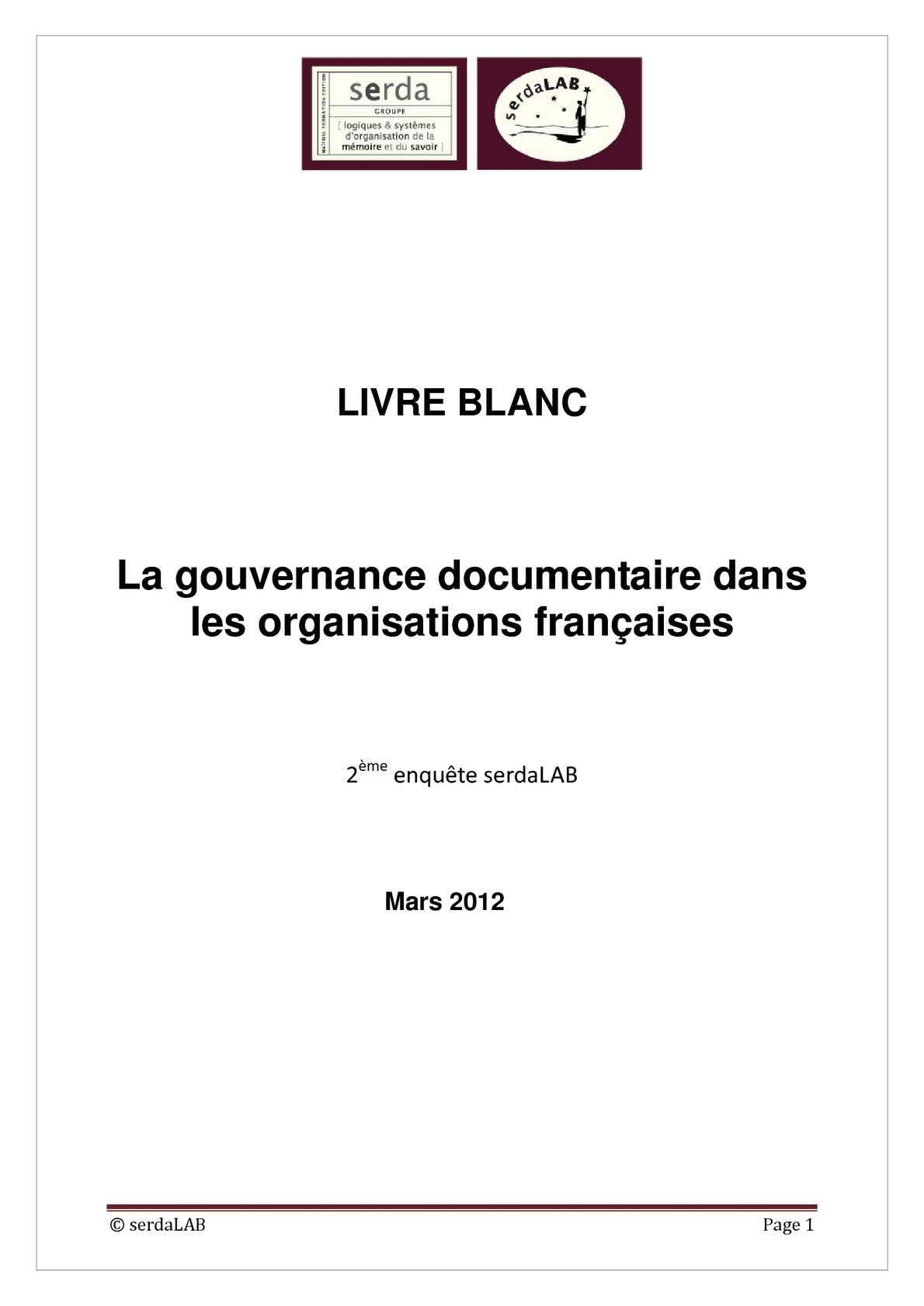 La gouvernance documentaire