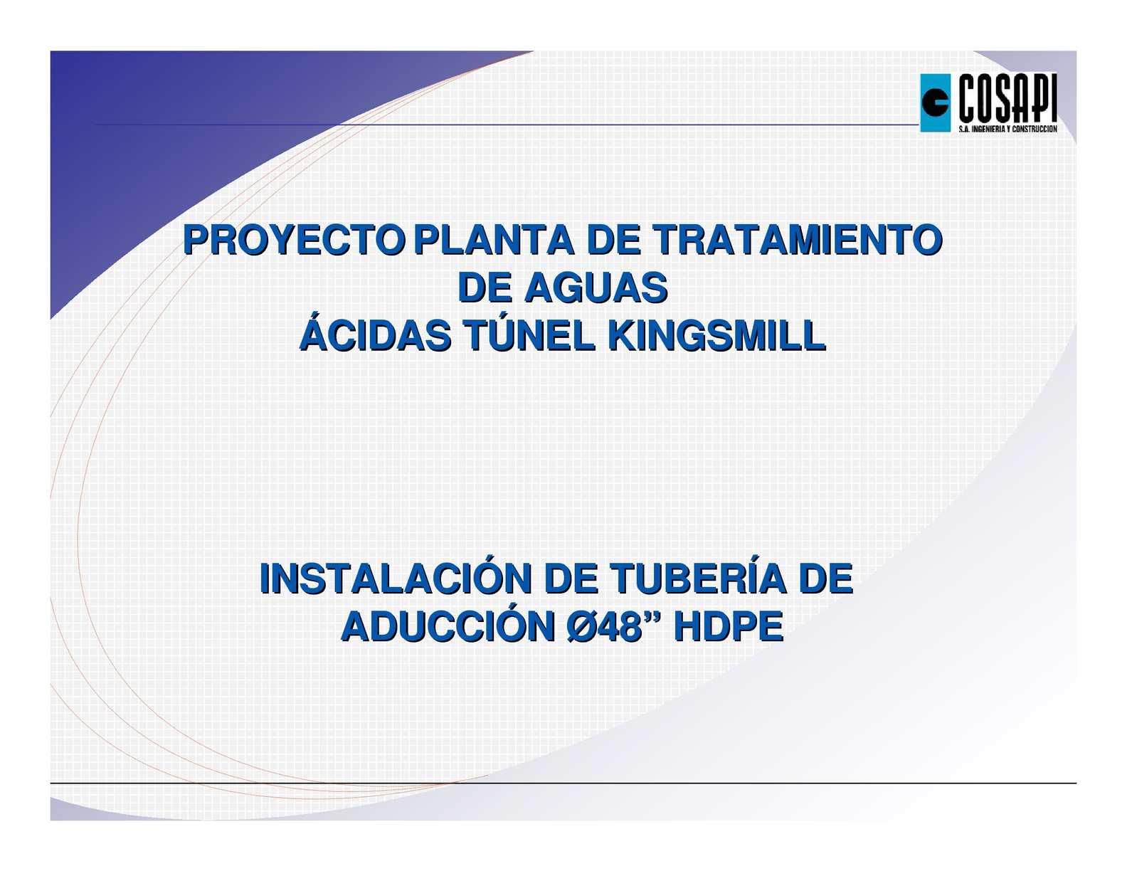 Calaméo - expediente_tecnico instalacion de tuberia HDPE desagues
