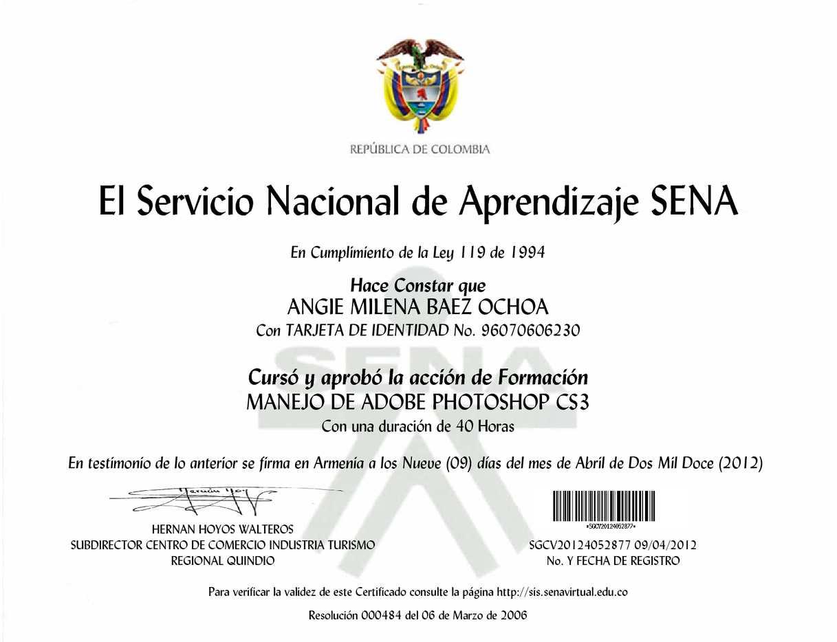 Sena certificados