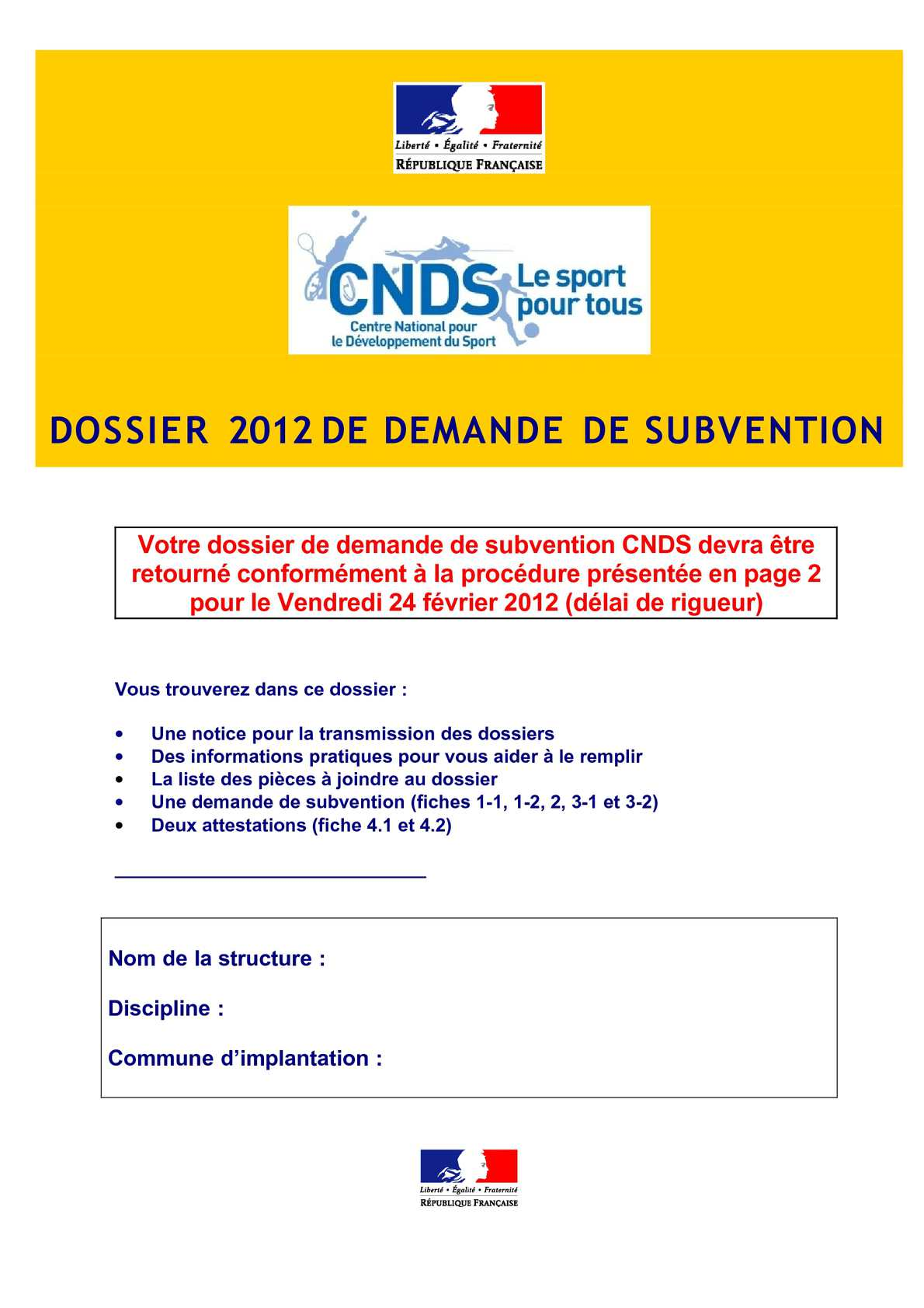 DOSSIER CNDS