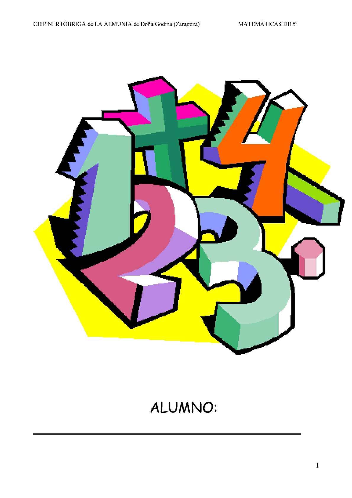 Calaméo - Cuaderno de actividades matemáticas/ 5º primaria