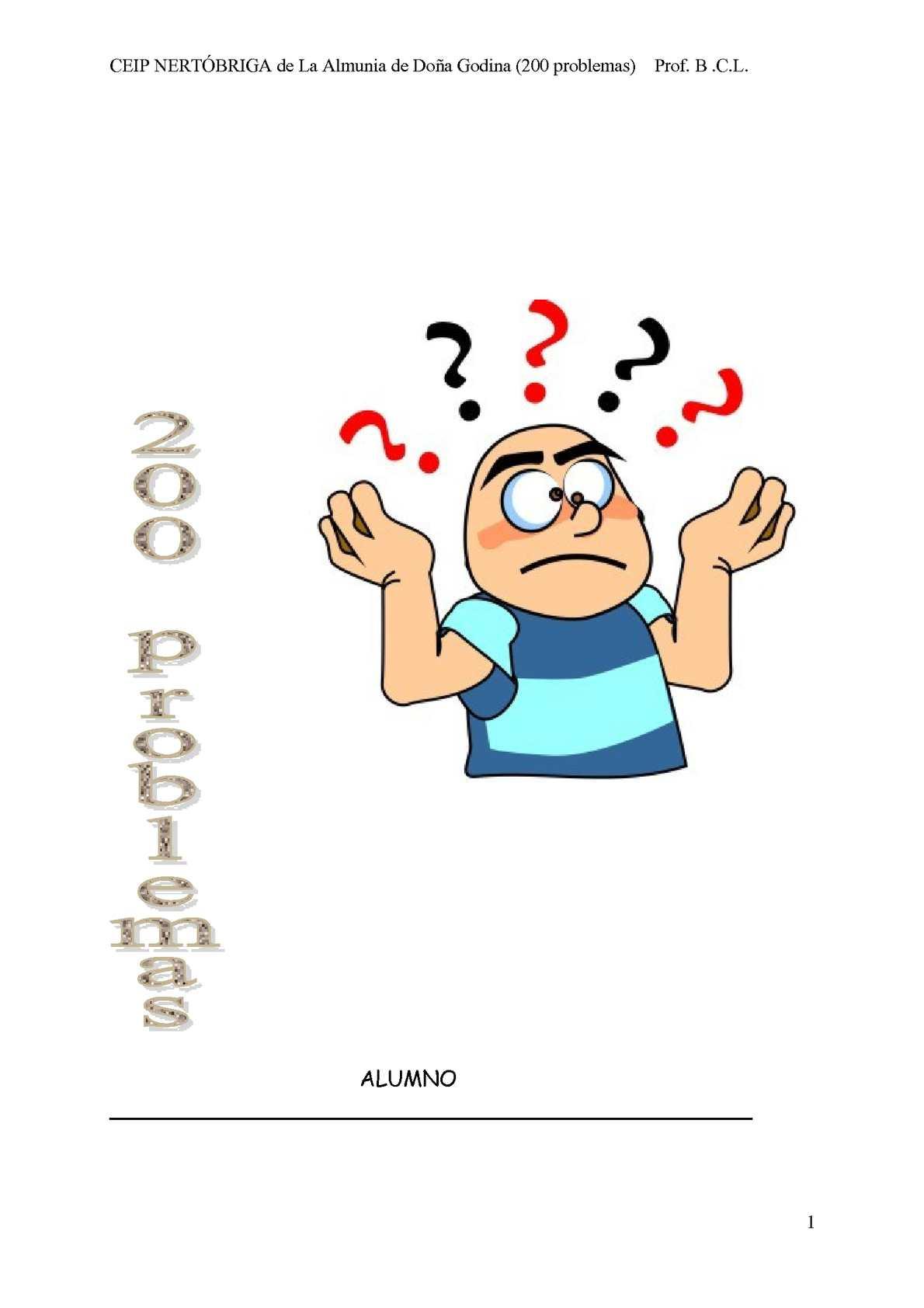 200 problemas de matemáticas para 5º de primaria