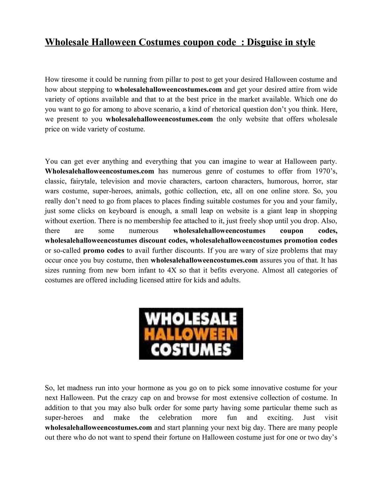 calamo wholesale halloween costumes coupon code