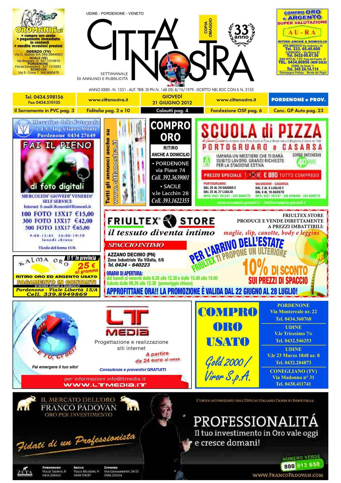Calaméo Citt Nostra Pordenone Del 21 06 2012 N 1331