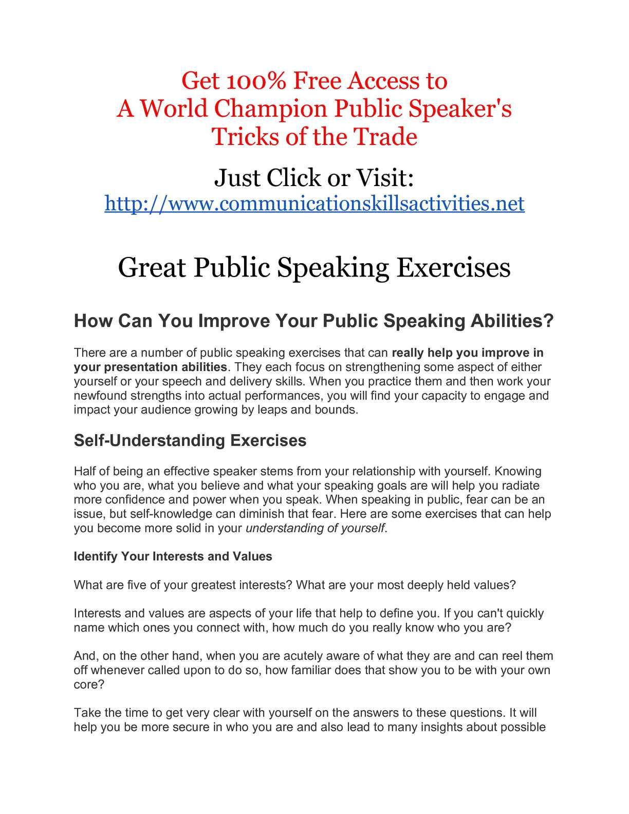 effective speech definition