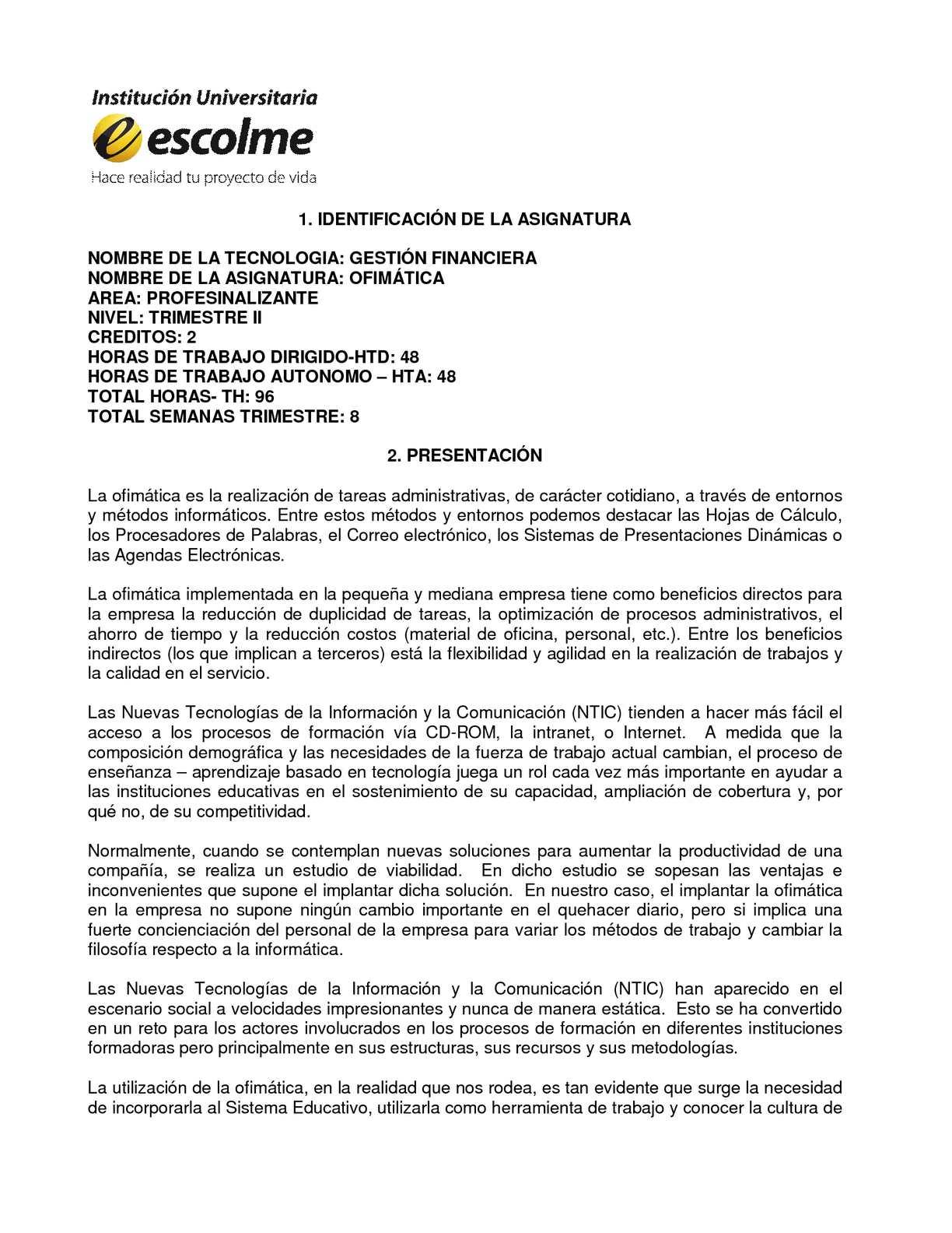 Calaméo - Carta Descriptiva Ofimatica_GF