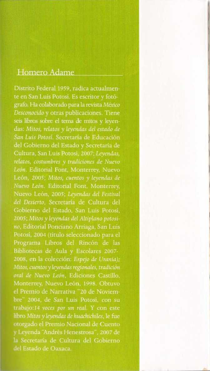 Incredible Libro Mitos Y Leyendas De Huachichiles Homero Complete Home Design Collection Papxelindsey Bellcom