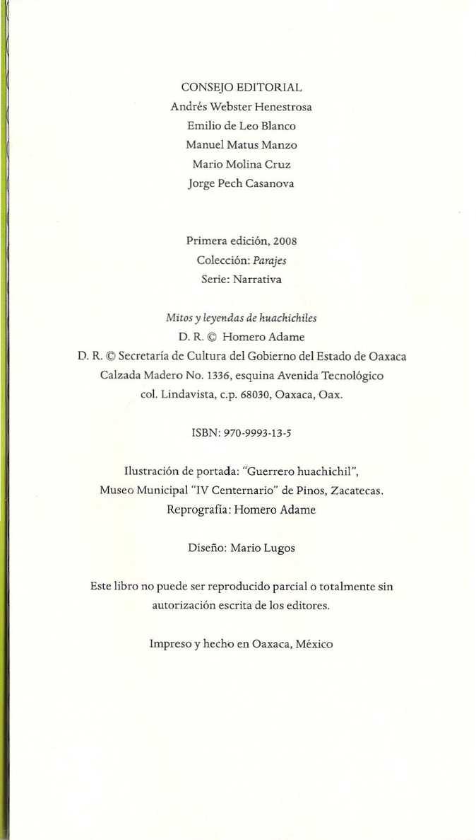 Outstanding Libro Mitos Y Leyendas De Huachichiles Homero Adame Parajes Complete Home Design Collection Papxelindsey Bellcom