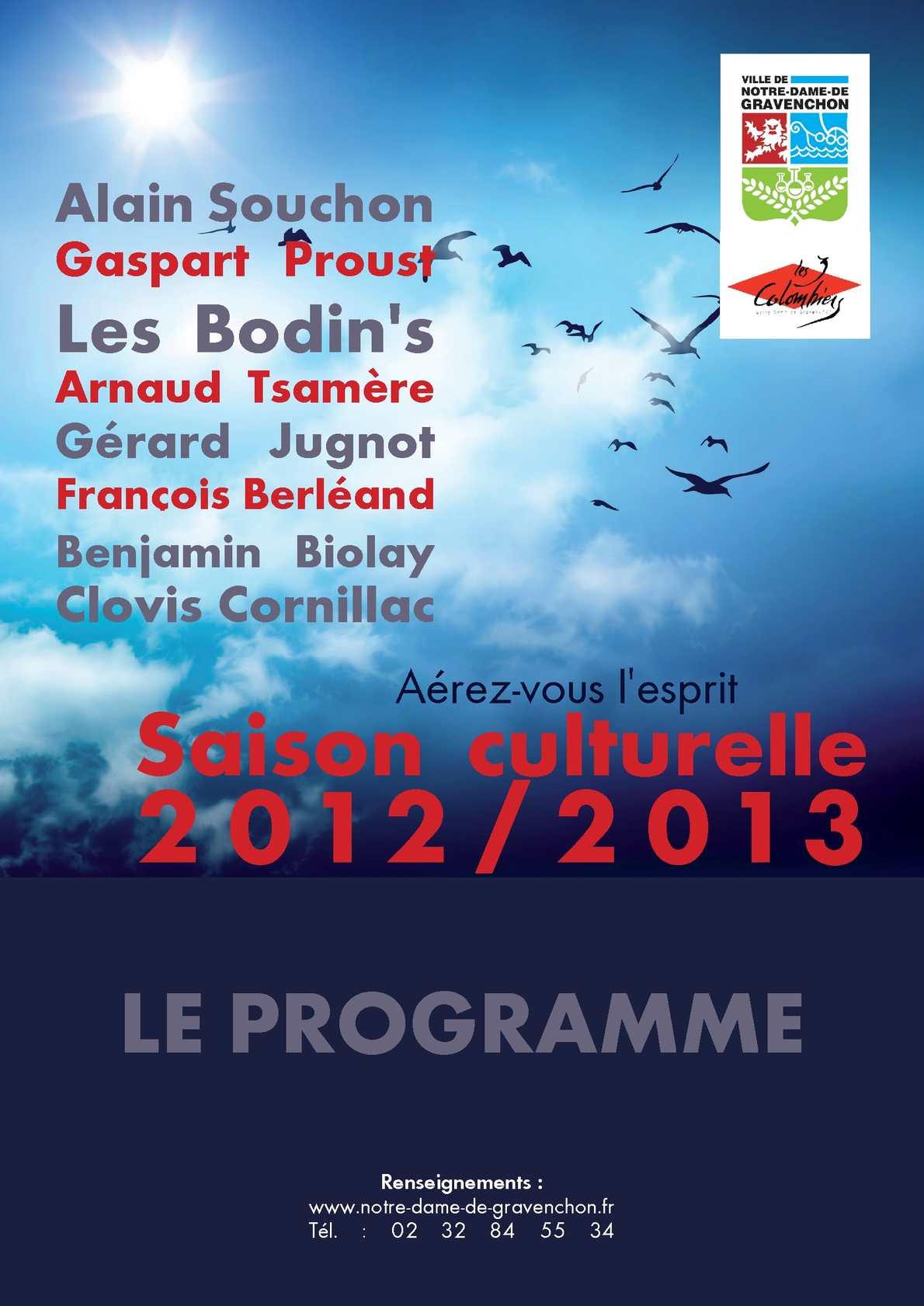 Calam o programme de la saison culturelle 2012 2013 - Notre dame de gravenchon piscine ...