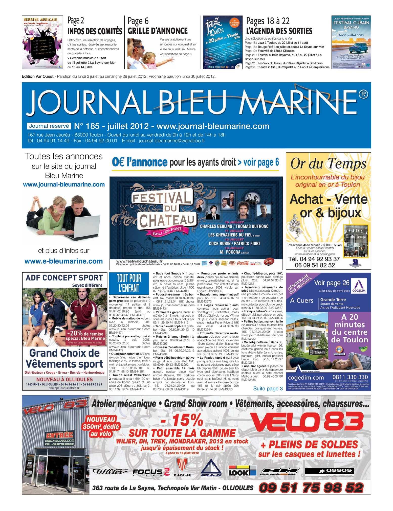 Calaméo Journal Bleu Marine n°185 Juillet 2012