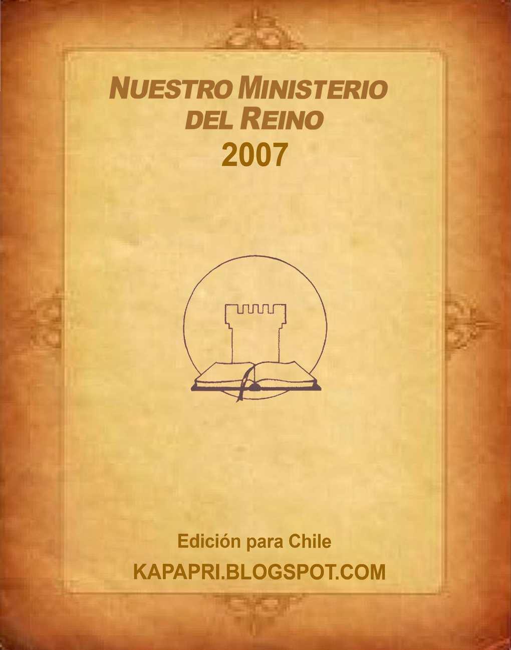 Calaméo - 2007 Nuestro Miniserio el Reino