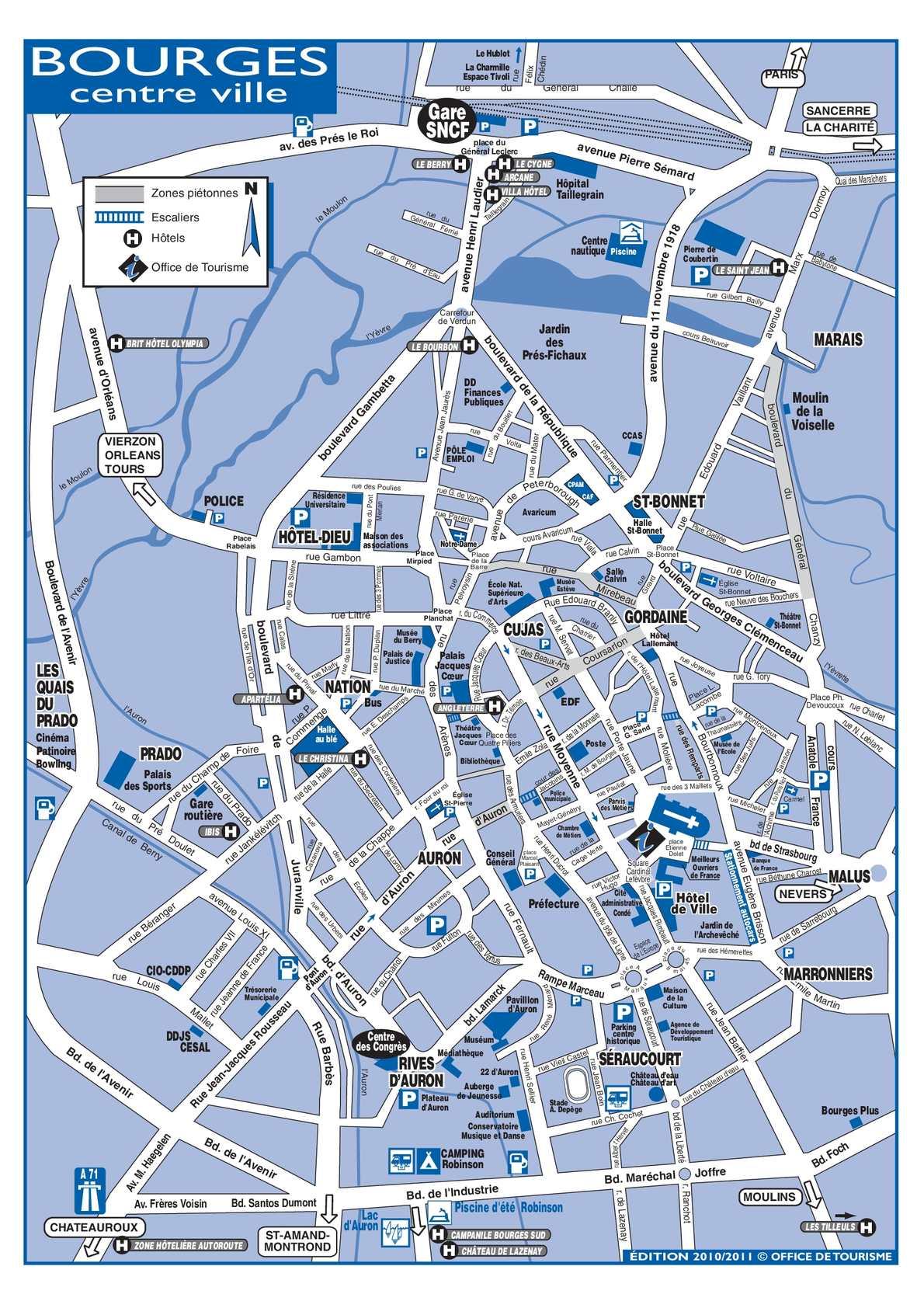 Calam 233 O Plan De Bourges Centre Ville Et Acc 232 S
