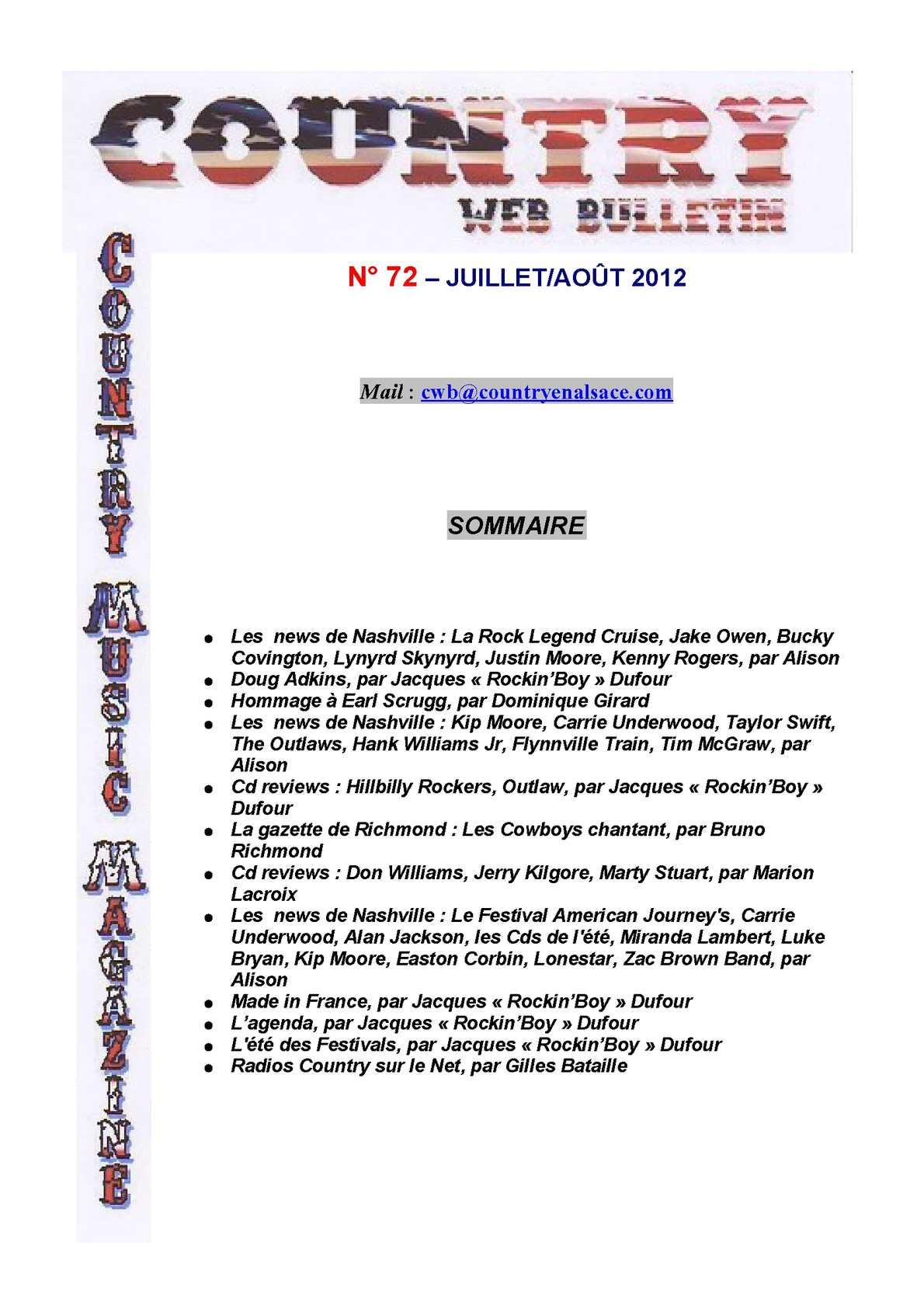 Calaméo Country Web Bulletin Juillet/Ao?t Juillet/Ao?t Bulletin 2012 b03d7e