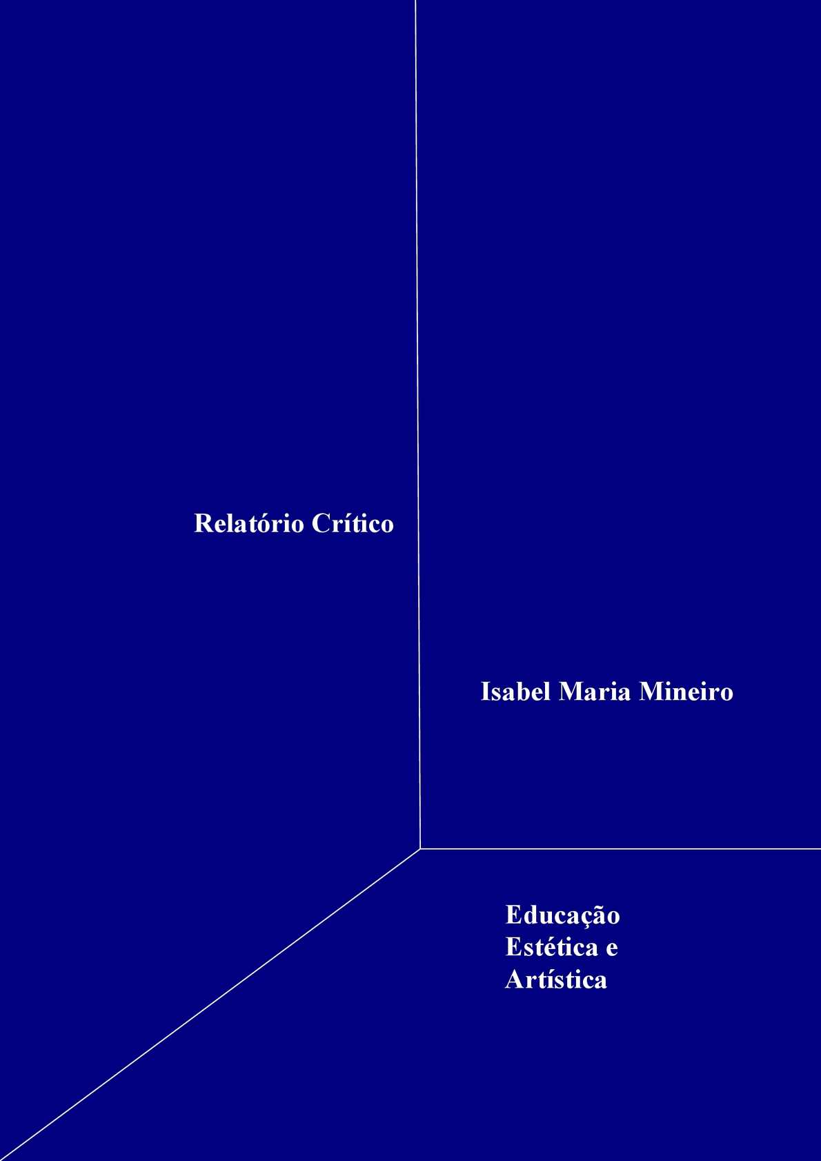 Formação em Educação Estética e Artística - Relatório Crítico