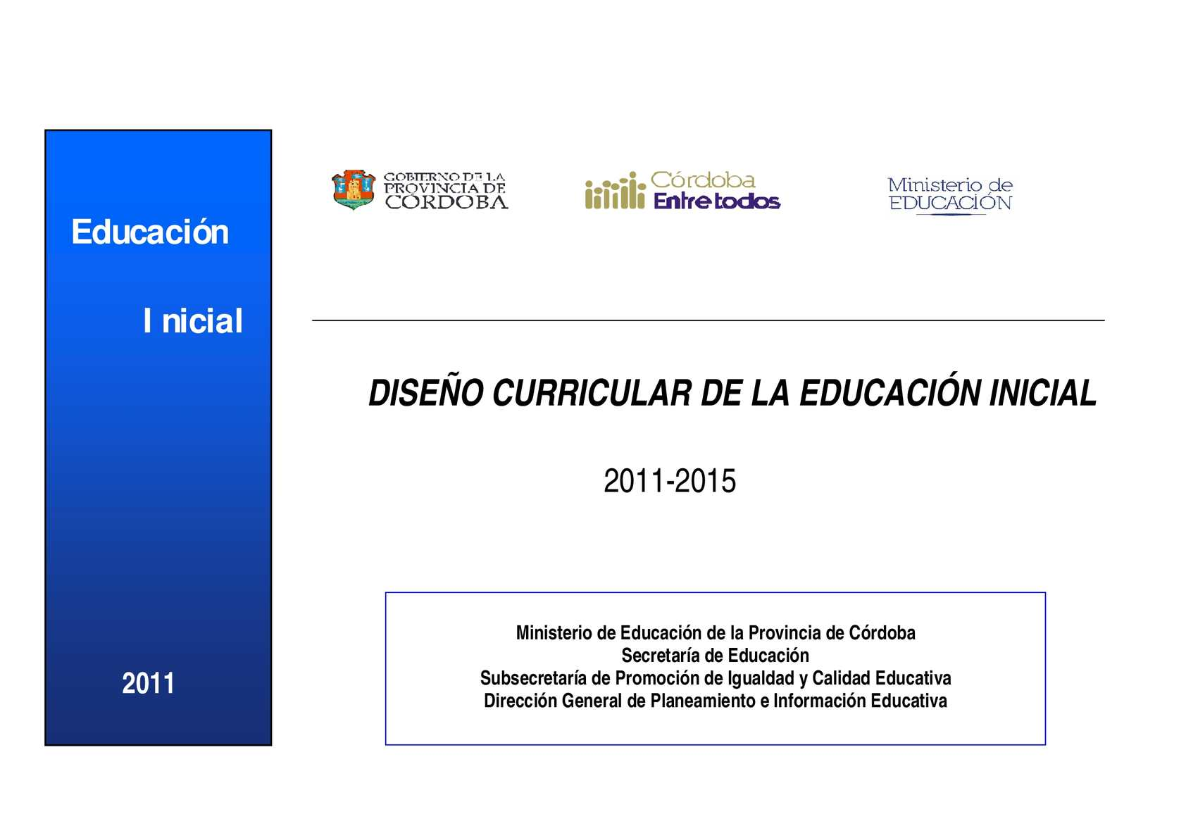 calam o dise o curricular 2011 2013 nivel inicial On diseno curricular maternal