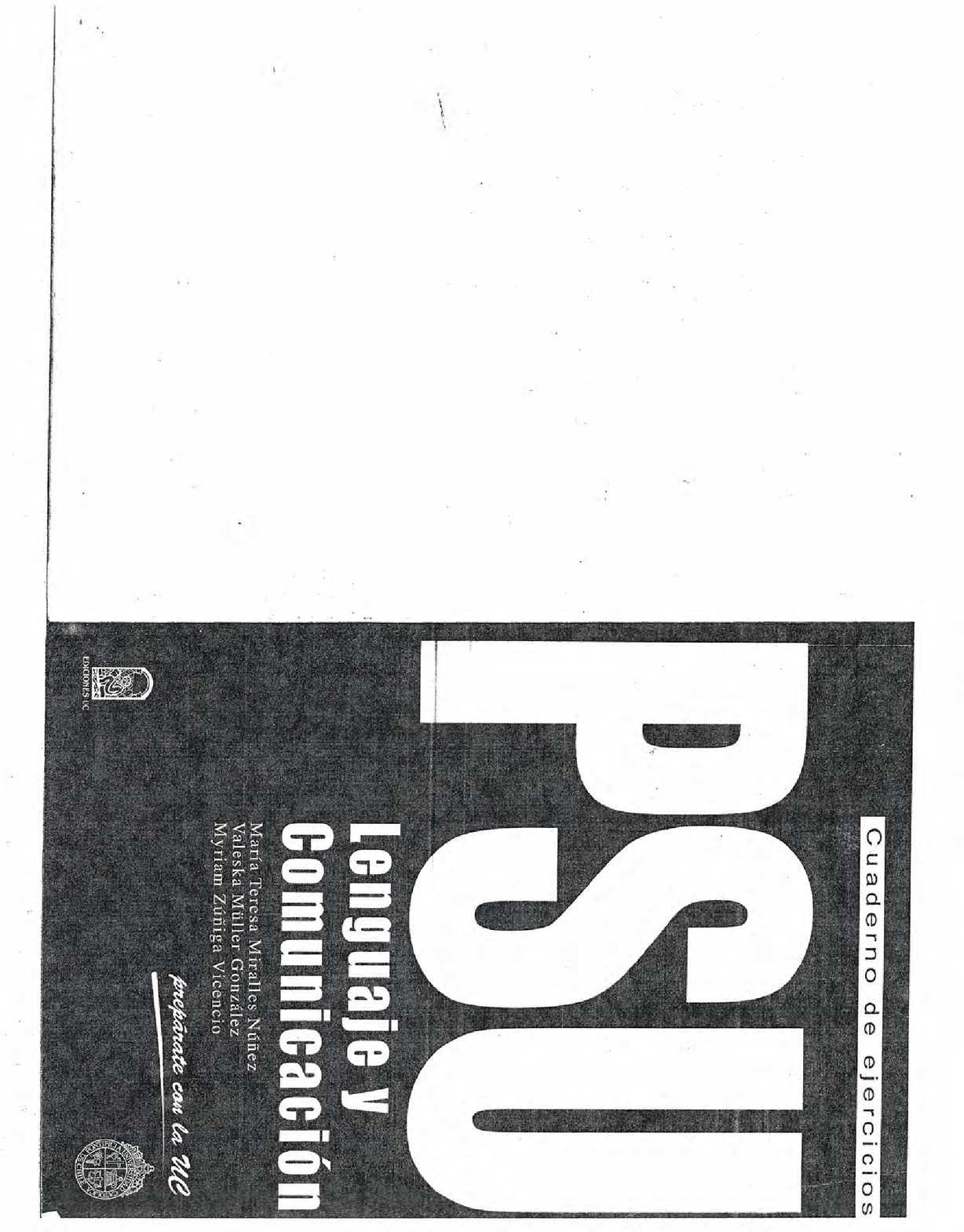 Calaméo - Libro PSU Lenguaje UC - Completo