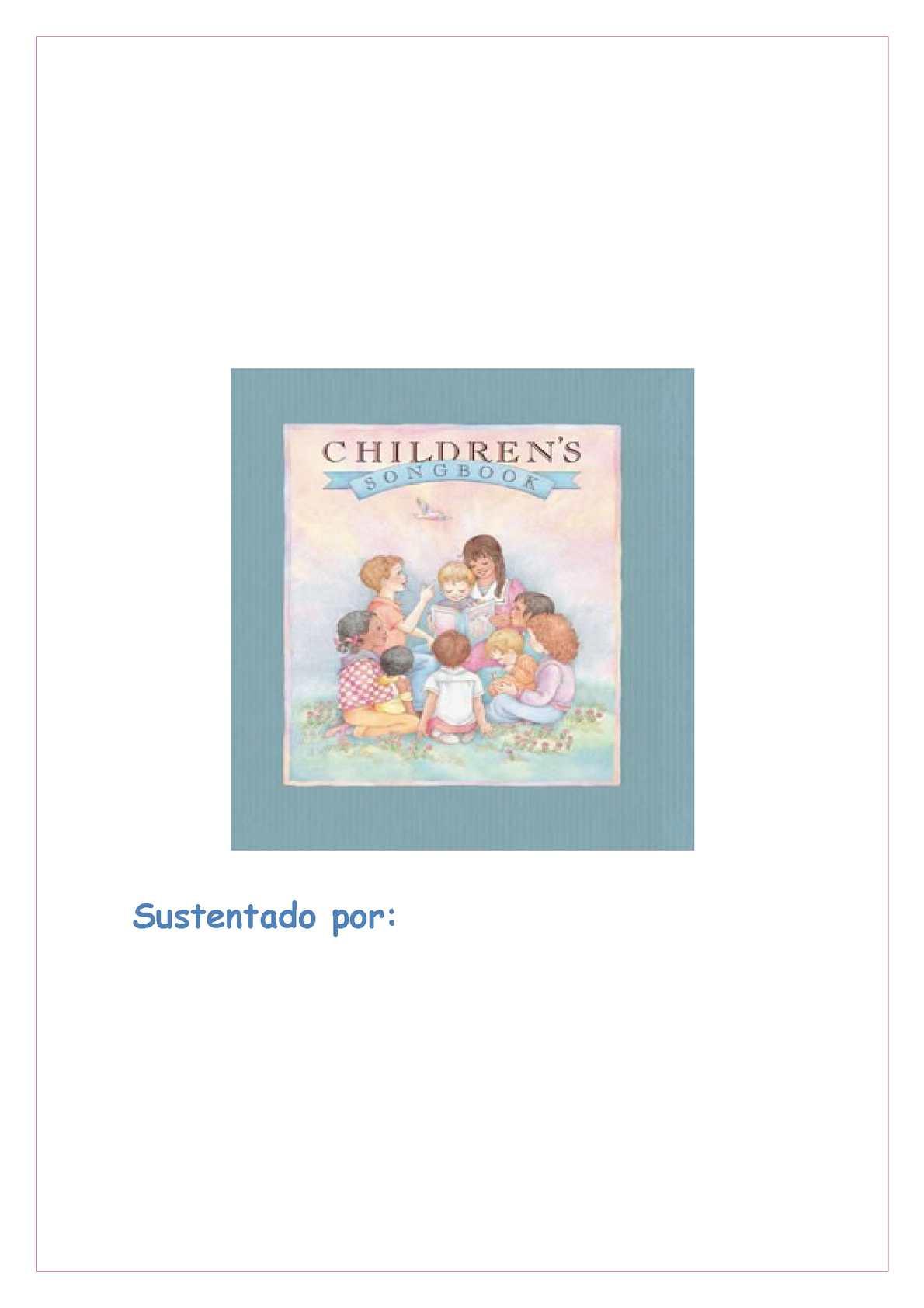 Mi primer libro de canciones infantiles
