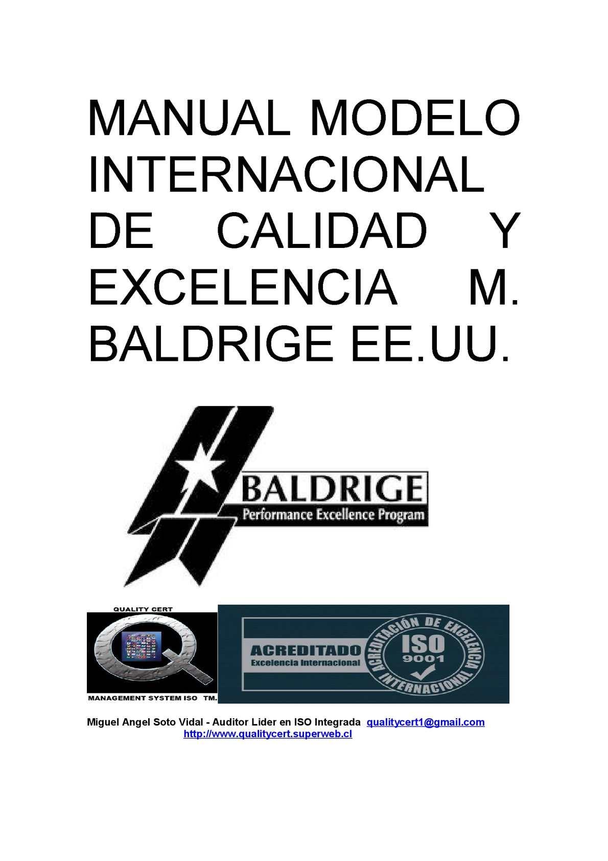 Calaméo - MANUAL MODELO INTERNACIONAL DE CALIDAD Y EXCELENCIA ...
