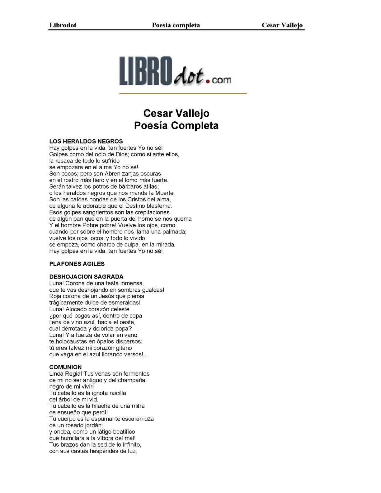Calaméo - Vallejo, César - Poesía completa