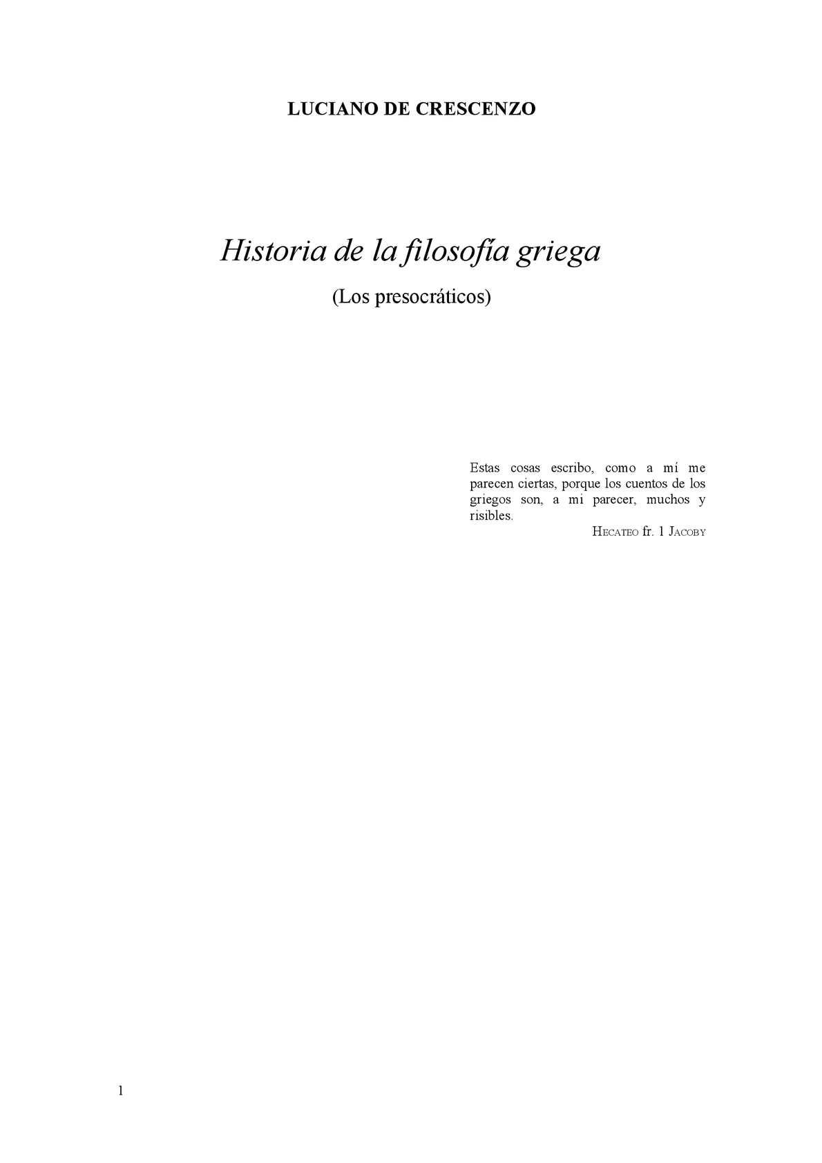 Calaméo - Presocráticos