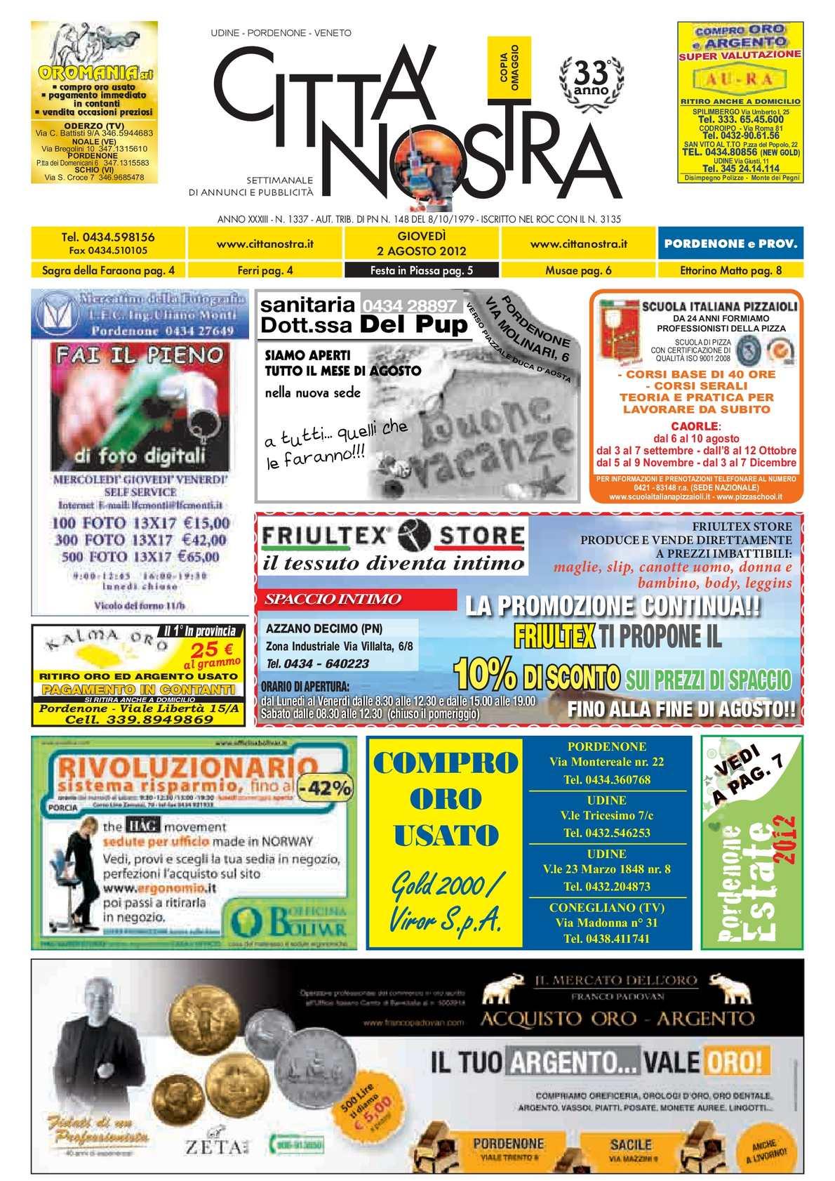 calaméo - città nostra pordenone del 02.08.2012 n. 1337 - Gazebo Unico Progetta Impresa Stecca Balaustra