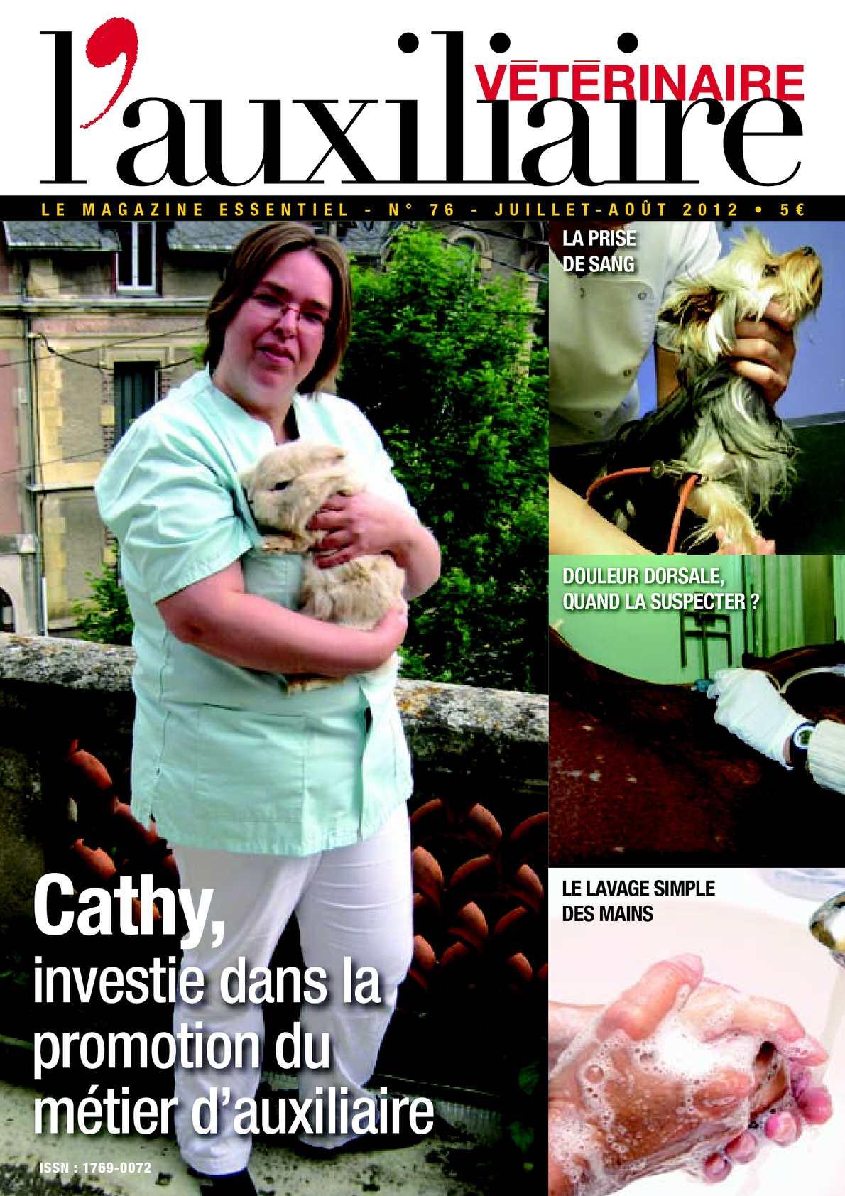 Magazine l'Auxiliaire vétérinaire n°76 juillet/août 2012 (extrait)